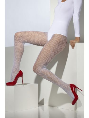 Fishnet Tights - White (Smiffys 22287)